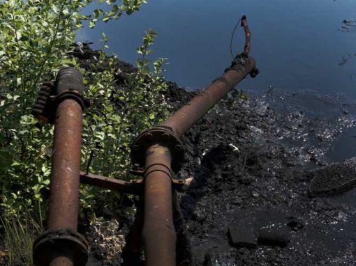 Oil flows downhill.